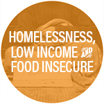 Homelessness, Low Income and Food Insecure